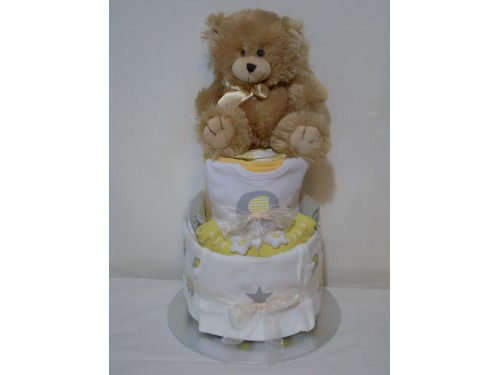 Baby Nappy Cake - Neutral